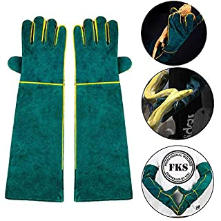 AUOKER Animal Handling Gloves Bite Proof, Durable Bite Resistant Gloves for Bathing, Grooming, Handling Dog/Cat/Bird/Snake/Parrot/Lizard/Reptile - Scratch/Bite Resistant Protection Gloves