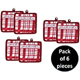 Yellow Weaves Set Of 6, Cotton Pot Holder, Color - Red, Size- 19 X 19 Cm