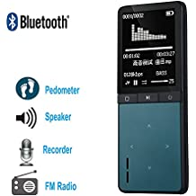 ONN W8 Bluetooth Extroverted MP3 Player Sports Media Music MP3/MP4 Player Blue …