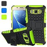ykooe Handys Schutzhülle Ständer für Samsung Galaxy J5 (2016) Hülle 5.2 Zoll (Grün)