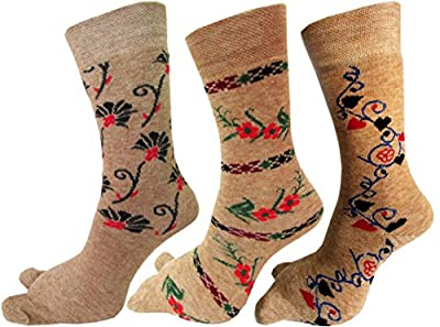 RC. ROYAL CLASS Warm Terry/Terry Thick Thumb Socks For Women (Pack of 3 Pairs)