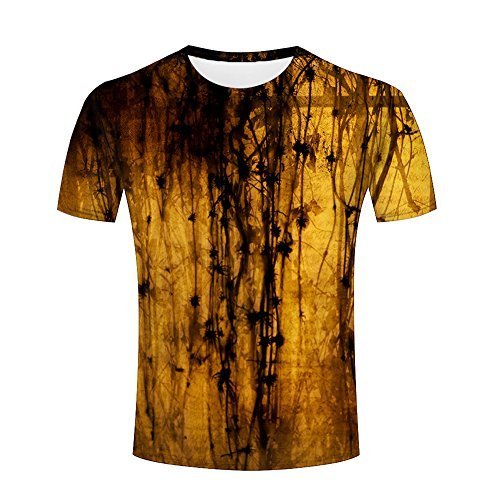 Men 3D T-Shirt Yellow Gradient Printed Jing Unisex Funny Patterned