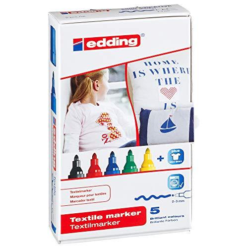 edding waeschemarker edding 4-4500-5 Textilmarker, Rundspitze, 2-3 mm, sortiert