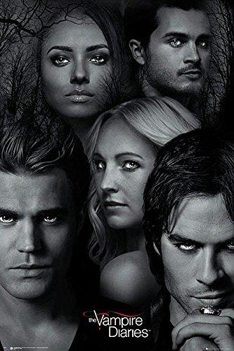 """Poster The Vampire Diaries """"Les Personnages"""" (61cm x 91,5cm) + un poster Bora Bora en cadeau!, Divers"""