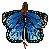 MRULIC Damen 170 * 140cm Weiche Gewebe Schmetterlingsflügel Schal Feenhafte Nympho Pixie Fasching Cosplay Ostern Karnevalskostüm Accessoire Weihnachten Kostüm Zusatz