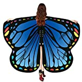Karneval Cosplay Schmetterling Kostüm, 170X140CM Bohemian Drucken Schmetterling Flügel Umhang Schal Poncho Feenhafte Faschingskostüme Nymphe Pixie Float Parade Kostüm Zubehör