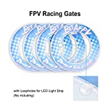 BETAFPV 4pcs Micro FPV Racing Gates Stylized Racing Circle Indoor Outdoor Gate Upgraded with Loopholes for Tiny Whoop Racing Drone