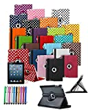 For Amazon Kindle Fire 7 inch (5th Gen 2015) - Custom Made Tablet Case Cover with 360° Rotating and Stand Feature & Retractable Mini Stylus Pen in HOT PINK ** Clearance SALE ALL STOCK MUST GO **
