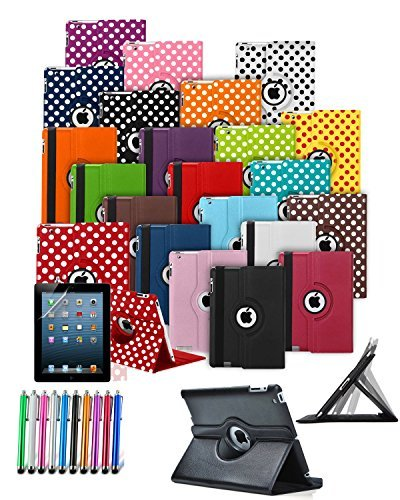 Für Amazon Kindle Fire HD 17,8 cm Zoll (4. Generation 2014) – Custom Made Tablet Schutzhülle mit 360 ° Drehbar und Ständer Funktion & Eingabestift in Hot Pink * * AUSVERKAUF alle Lager Must Go * * Kindle Fire 7 Hd Bundle