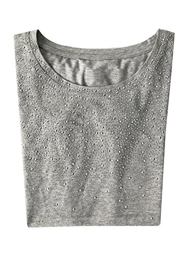 Lady Bella Lingerie Damen T-Shirt Grau
