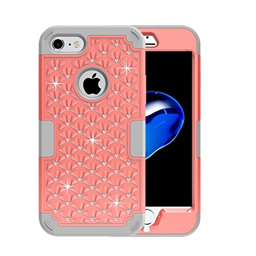 iPhone Case Cover Pour iPhone 7 3 en 1 PC Encrusted diamant + combinaison de silicone ( SKU : Ip7g3200db ) Ip7g3200eh