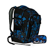 Satch MATCH by Ergobag - 2tlg. Set Schulrucksack - Blue Triangle (SchlamperBox)