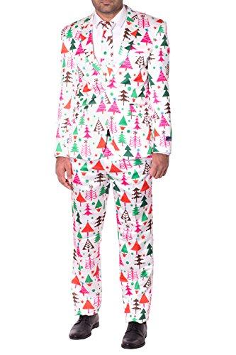 Maigre Fixer Noël Fantaisie Costume complet pour Hommes Blanc Arbre