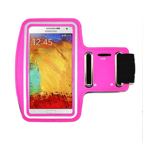 Excellent Style Hot Pink Sports Running Jogging Gym Armband Arm Band Case Cover Holder for Galaxy s3/s4/s5 - Armee-samsung Galaxy Case S3