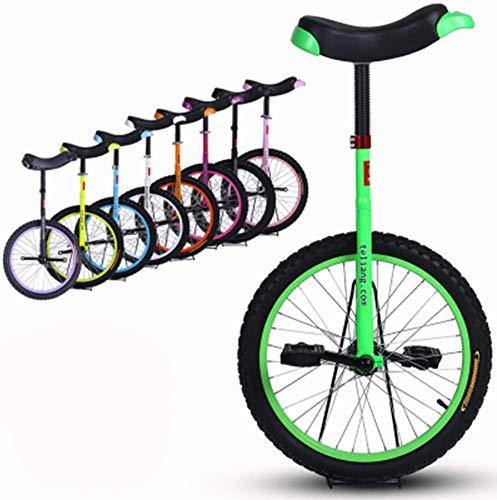 BUDBYU Einrad, 16 18 20 24 Zoll Höhenverstellbar Balance Radfahren Übung Trainer Verwenden für Kinder Erwachsene Übung Spaß Fahrrad Zyklus Fitness