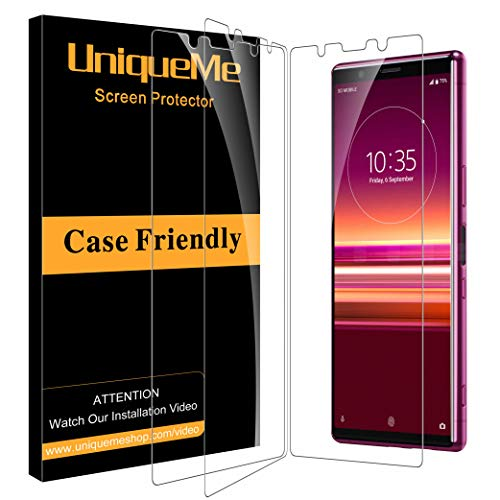 UniqueMe [3 pièces] Verre Trempé pour Sony Xperia 5, [sans Bulles][9H Dureté] Ultra Résistant Film Protection écran pour Sony Xperia 5