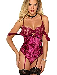 With adult lingerie purple only
