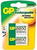 GP-Blister 2wiederaufladbare Batterien C 2200mAh NiMH