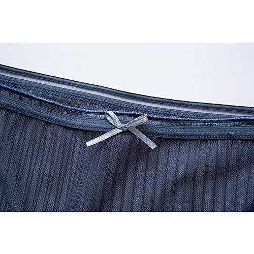 Haodou String mit Spitze Damen Unterhose Unterwäsche Reizvolle Wäsche durchsichtige Tanga G-Schnur Schlüpfer Damenwäsche Dessous (Blau-M) - 6
