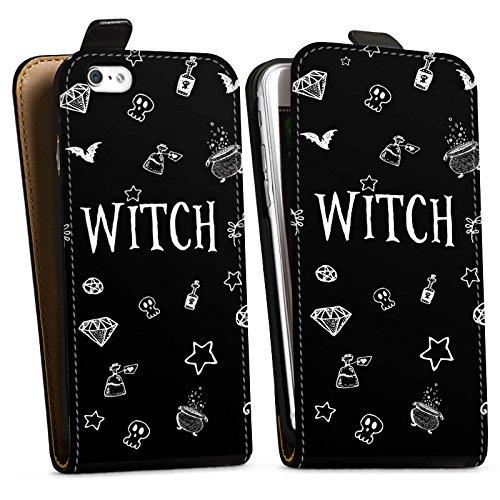 Apple iPhone 6s Silikon Hülle Case Schutzhülle Witch Hexe Halloween Downflip Tasche schwarz