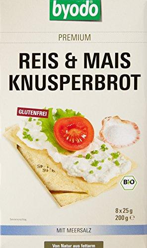 Byodo Toasts sans Gluten Bio à Base de Riz et Maïs 8 x 25 g - Lot de 6