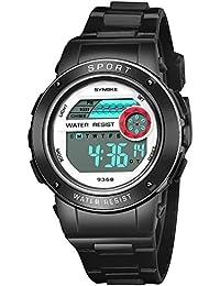 YpingLonk_ Relojes Analógico para Unisex de Cuarzo Niño Multifuncional Impermeable de Acero Inoxidable Relojes Clásico y