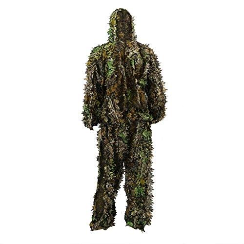 dschungel kleidung Zicac 3D Ghillie Tarnanzug Dschungel Ghillie Suit Woodland Camouflage Anzug Kleidung Für Jagd Verdeckt Festschmuck