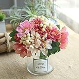 Yazidan Künstliche Seide gefälschte Blumen Blatt Rose Blumen Hochzeit Bouquet Party Home Decor für Haus Garten Pfingstrose Floral künstliche Seide Künstliche Brautstrauß Hochzeitsfeier Home Decor