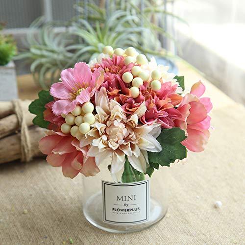 REALIKE 1 Bouquet Künstliche Gefälschte Rose Silk Flower Bridal Künstliche Seide Gefälschte Blumen Blatt Pfingstrose Blumen Hochzeit Bouquet Hochzeit Dekor Hochzeit