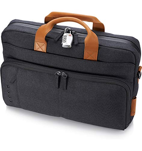 HP Envy Urban 15.6-inch Topload Laptop Briefcase with Shoulder Strap and RFID Blocking Pockets (Grey) Image 11