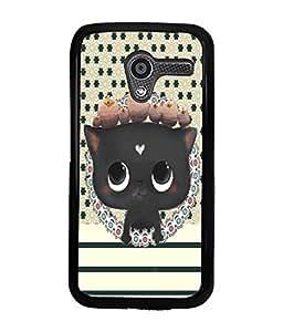 Printvisa 2D Printed Cat Designer back case cover for Motorola Moto X- D4370