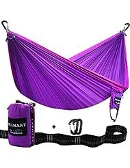 SEGMART hängematte- Portable Ultralight Camping, Hiking Parachute Reisehängematte with tree straps and carabiners Top-grade