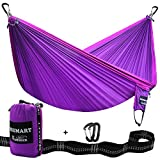 For Your kindly note: Upgraded Double Hammock-Blackish Green/Yellow and purple hammocks were Upgraded on 13th nov.The Black Ropes of the ends of hammocks have been Upgraded to Grey Nylon Slings.It' s Stronger and more Portable, which Bears 550ibs/S...