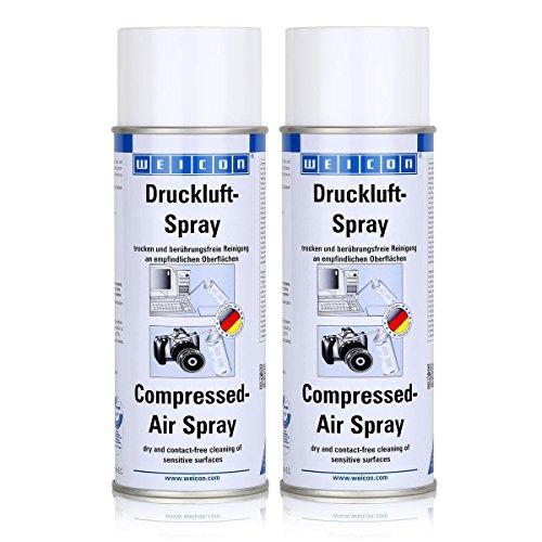 Weicon Druckluft-Spray 400ml - berührungsfreie Reinigung - 11620400 (2er Pack)