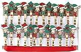 HEITMANN DECO Noël - Clips en Bois pour Calendrier de l'Avent personnalisé avec Sangle de Suspension - Pince décorées de Rennes et sapins