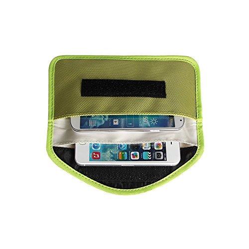 Leinwand-Schutz Anti-Radiation Anti-Tracking-Anti-Spion Signal Blocking-Fall-Beutel Handset Funktion Tasche für iPhone 6S, 6SPlus,6, 6 Plus, iPhoneSE,5S, iPhone 5C, iPhone 5, iPod Touch, Samsung, HTC, Motorola, Sony, GPS, Speicherkarten und andere elektronische Produkte (Grün)