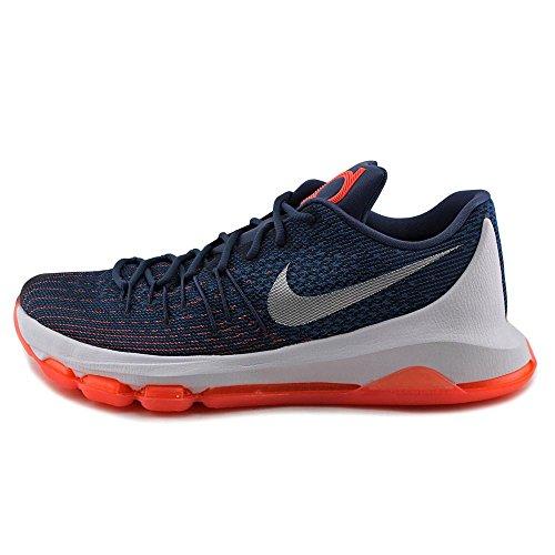 Nike  Kd 8, espadrilles de basket-ball homme Bleu / blanc / orange (brouillard marin / blanc - bleu marine minuit - bleu spectre)