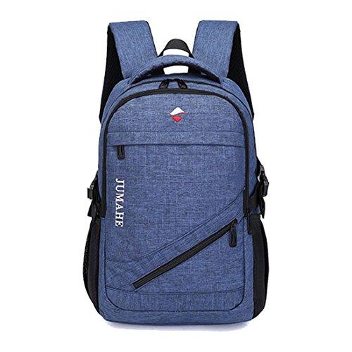 Maod Leinwand Freizeit Schulrucksack Jungen Rucksack schule daypack Laptoprucksäcke 15 Zoll Schultasche laptop backpack (Blau)