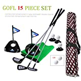 Golf Pro Toy Set for Kids Toddlers Clubs Practice Balls Sports Indoor Game