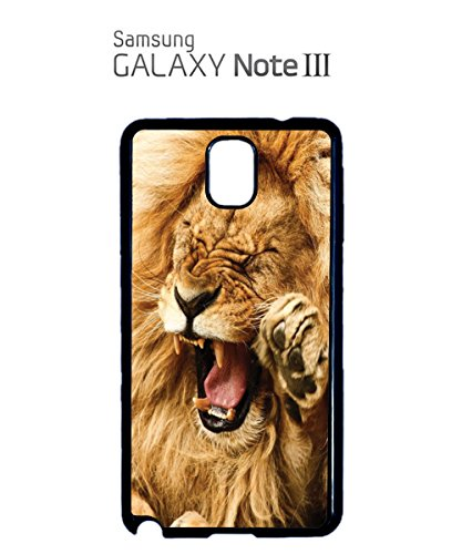 Smiling Lion Wild Funny Tumblr Mobile Phone Case Back Cover Coque Housse Etui Noir Blanc pour for Samsung Note 3 Black Blanc