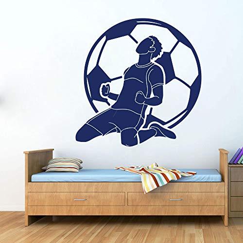 jiuyaomai Grande FC Calcio Wall Car Laptop Decal Boy Room Football Sport Gioco Ronaldo Player Wall Sticker Bambini Vinyl Art 56cmwidex56cmhigh