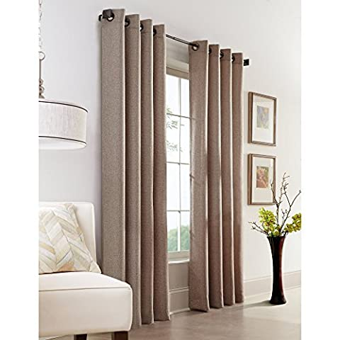 Common Wealth Home Fashions Faux Jute Textured Grommet-Top Panel, 54 x 95 by Commonwealth Home Fashions