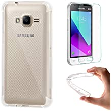 Funda Samsung Galaxy J1 mini prime + Protector de Pantalla, EUGO TPU Funda Gel de Silicona Carcasa Funda para Samsung Galaxy J1 mini prime