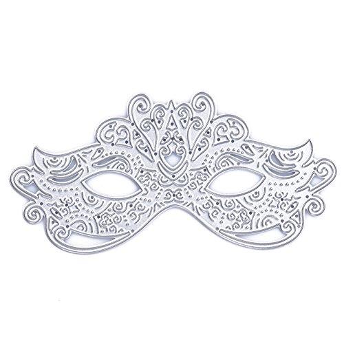 Demiawaking Schön Maske Form Stanzschablonen Metall Schneiden Schablonen für DIY Scrapbooking Album, Schneiden Schablonen Papier Karten Sammelalbum Dekor (04)