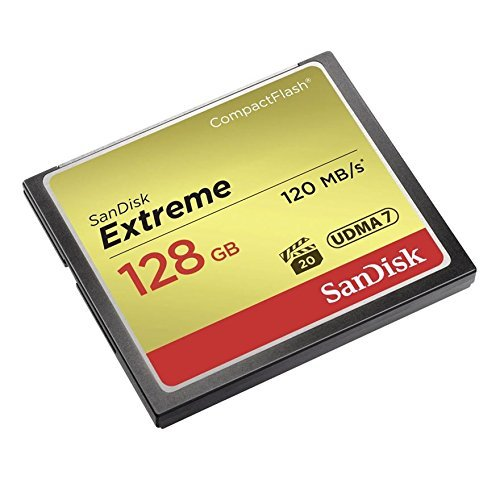 SanDisk Extreme 128GB CompactFlash Memory Card UDMA 7 Speed Up To 120MB/s