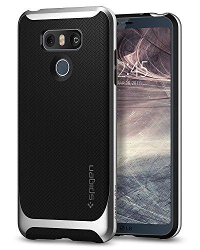 Coque LG G6, Spigen [Neo Hybrid] Protection Souple Bumper Resistant [Satin Silver] Fine, Bonne Prise en Main, Coque pour LG G6 (A21CS21237)