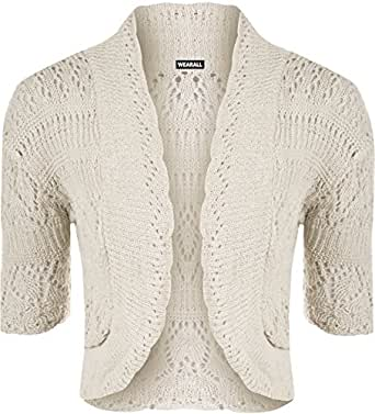 WearAll - Boléro crochet - Hauts - Femmes - Beige - 36-38