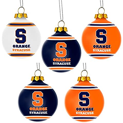 Syracuse Orangemen Official NCAA Plastic Christmas Ball Ornament by Forever Collectibles 360877 by Forever