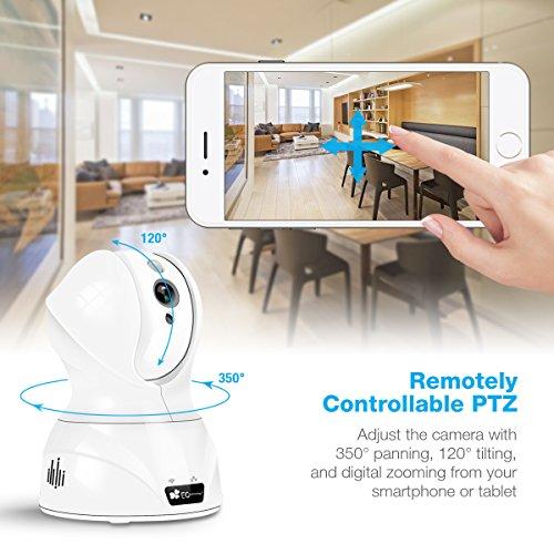 720P HD Wireless Wlan/Wifi IP Kamera von EC Technology Schwenkbare Indoor Baby Monitor Heim Home Security Überwachungskamera mit Bewegungserkennung - 3