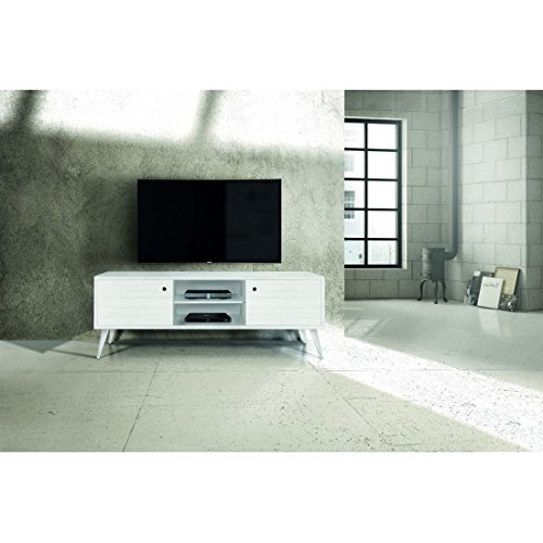 Estense – Porte TV 160 x 45 h. 55 Sapin Blanc brossé – 883